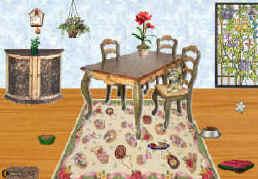 Cartoon dining room
